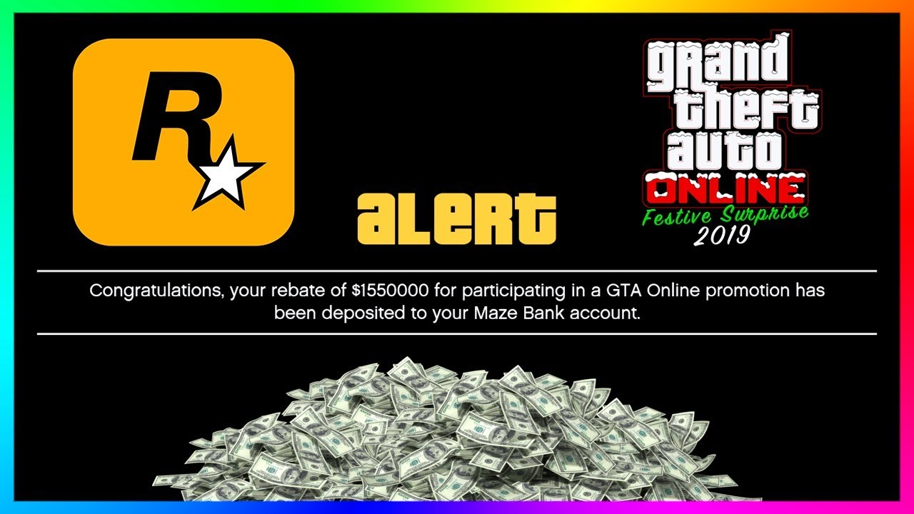 When Does The Gta Christmas 2021 Csr Giveaway End Gta 5 Online Festive Surprise 2019 Christmas Dlc Update Free Money New Changes More Gta 5 Youtube