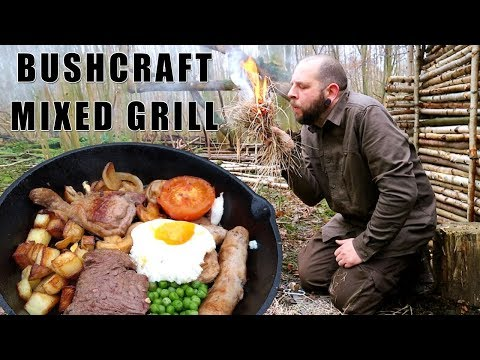Bushcraft Mixed Grill On Campfire