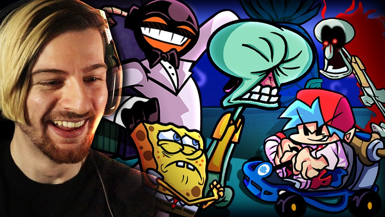 SO I MET SQUIDWARD TRICKY & WHITTY IN A TUX.. | Friday Night Funkin'