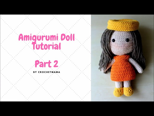 Tilda Doll dresses crochet tutorial - YouTube | 480x640