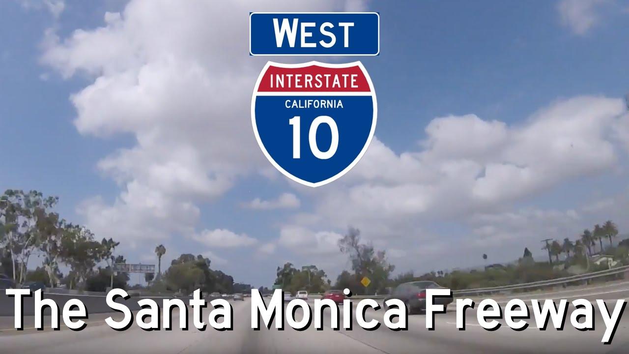 I 10 west the santa monica freeway los angeles and santa i 10 west the santa monica freeway los angeles and santa monica end exits 16b to 1a sciox Choice Image
