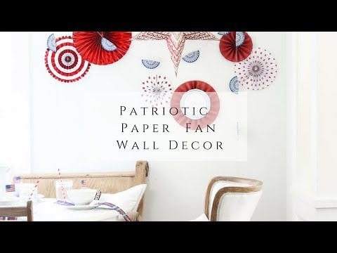 Patriotic Paper Fan Wall Decor