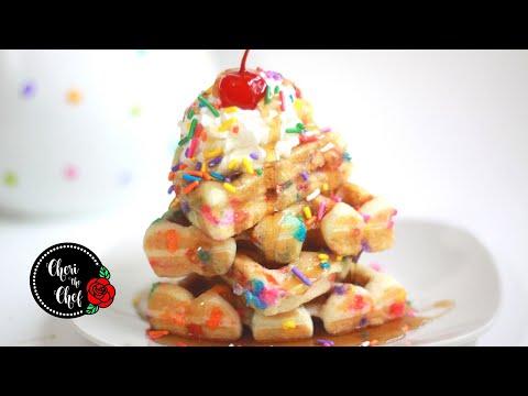 Fun With Waffles �� Funfetti Birthday Cake Waffle Recipe!