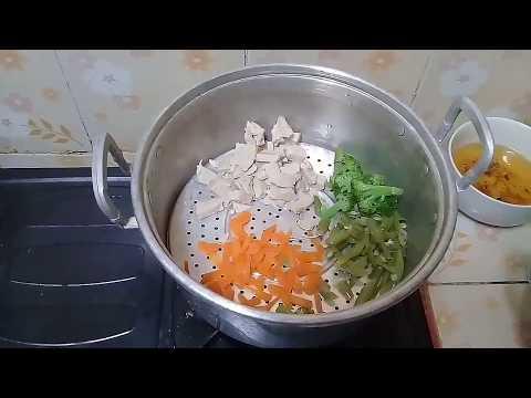 Resep Mpasi 8 Bulan Keatas Nasi Tim Ikan Tuna Buncis Brokoli Wortel Youtube