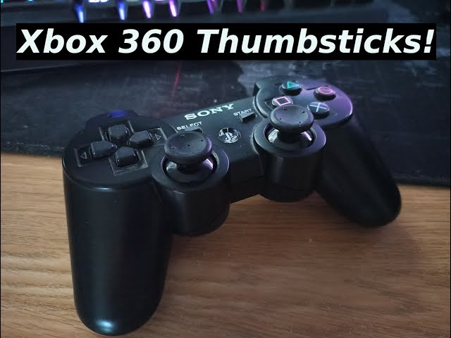 How to Fit Xbox 360 Thumbsticks on a PS3 Controller!