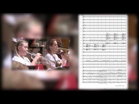 «Conga del fuego nuevo» con partitura para orquesta, de Arturo Márquez.