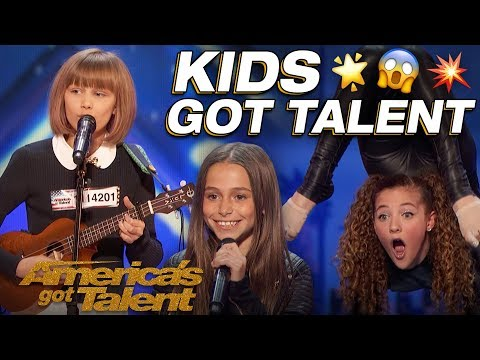 Grace VanderWaal, Sofie Dossi, And The Most Talented Kids! Wow! - Americas Got Talent