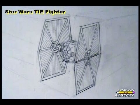 How To Draw A Star Wars Tie Fighter Youtube