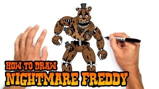 How to Draw Nightmare Freddy | Five Nights at Freddy