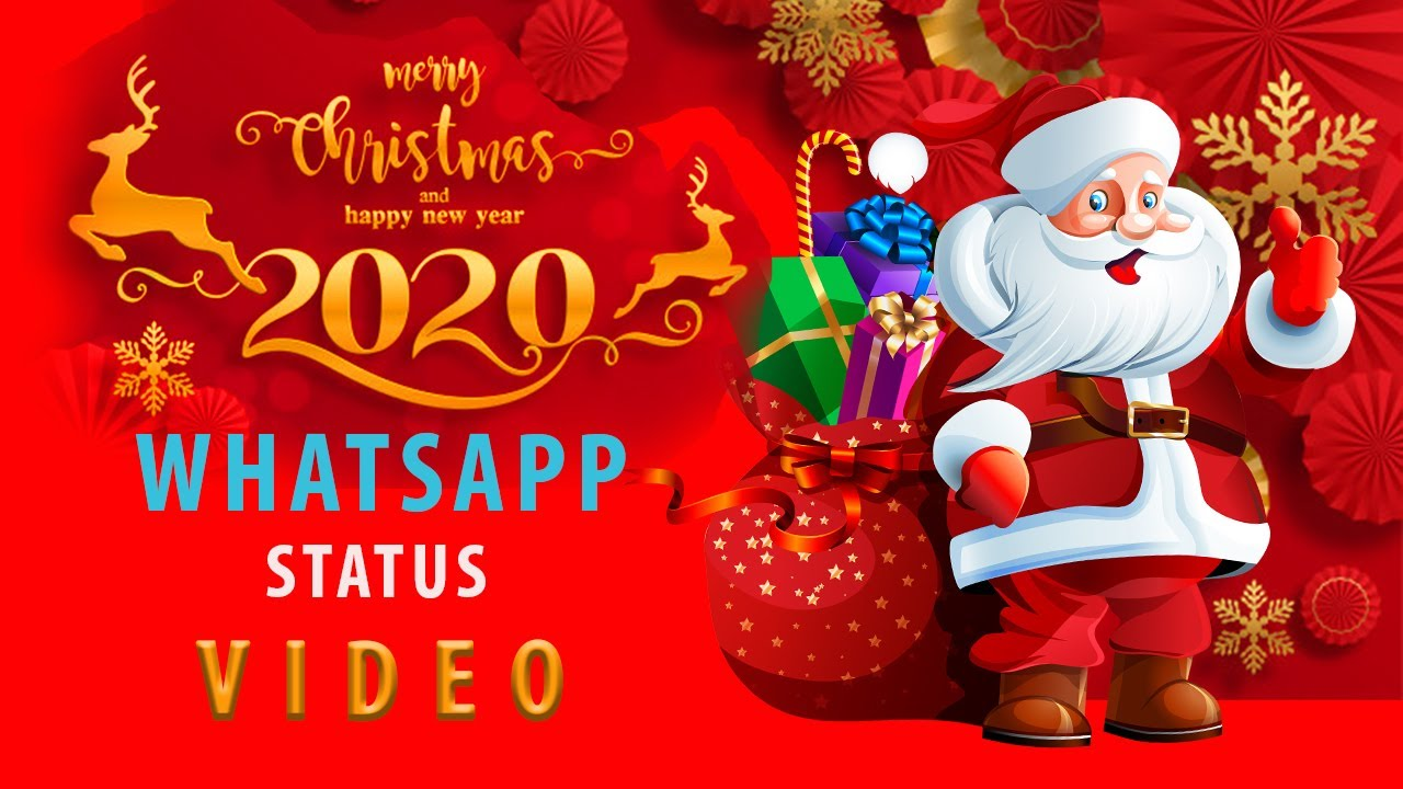 Merry Christmas Dec 25 New Year 2020 Greetings Wish Whatsapp Status Video