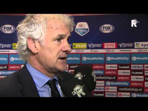 Feyenoord-trainer Fred Rutten na afloop van het duel in Utrecht