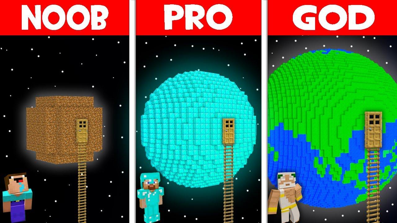 Minecraft NOOB vs PRO vs GOD: NOOB FOUND LADDER TO THE PLANET! SECRET PLANET HOUSE! (Animation)