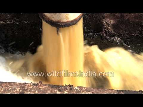 Yellow water laced with pollutants emerges from Kanpur tanne