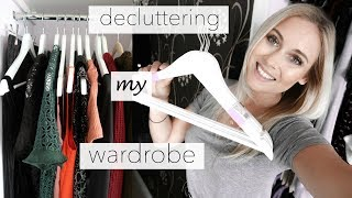 DECLUTTERING MY CLOTHES! | HOW TO CLEAR OUT YOUR WARDROBE