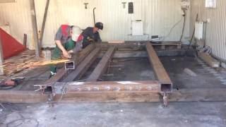 видео стапель для кузовного ремонта своими