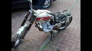 honda cb100 avec moteur lifan 200cc