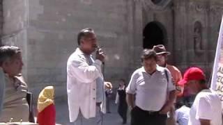PROTESTA AMBIENTAL EN EL ZOCALO DE OAXACA
