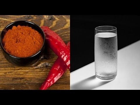 PUT SOME CAYENNE PEPPER IN A GLASS OF WATER, AND DRINK IT! A MIRACLE HAP...