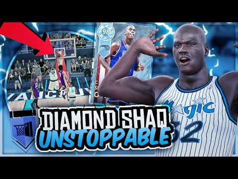 98 DIAMOND SHAQ IS UNBELIEVABLE! HOF ATHLETIC BEAST! NBA 2K18