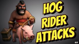 How To 3 Star Using Hog Rider Attack Strategy At TH8 Gameplay - Clash of Clans