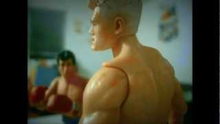 [Stop Motion Animation] Rocky vs Ivan Drago (Boxing Stop Motion)
