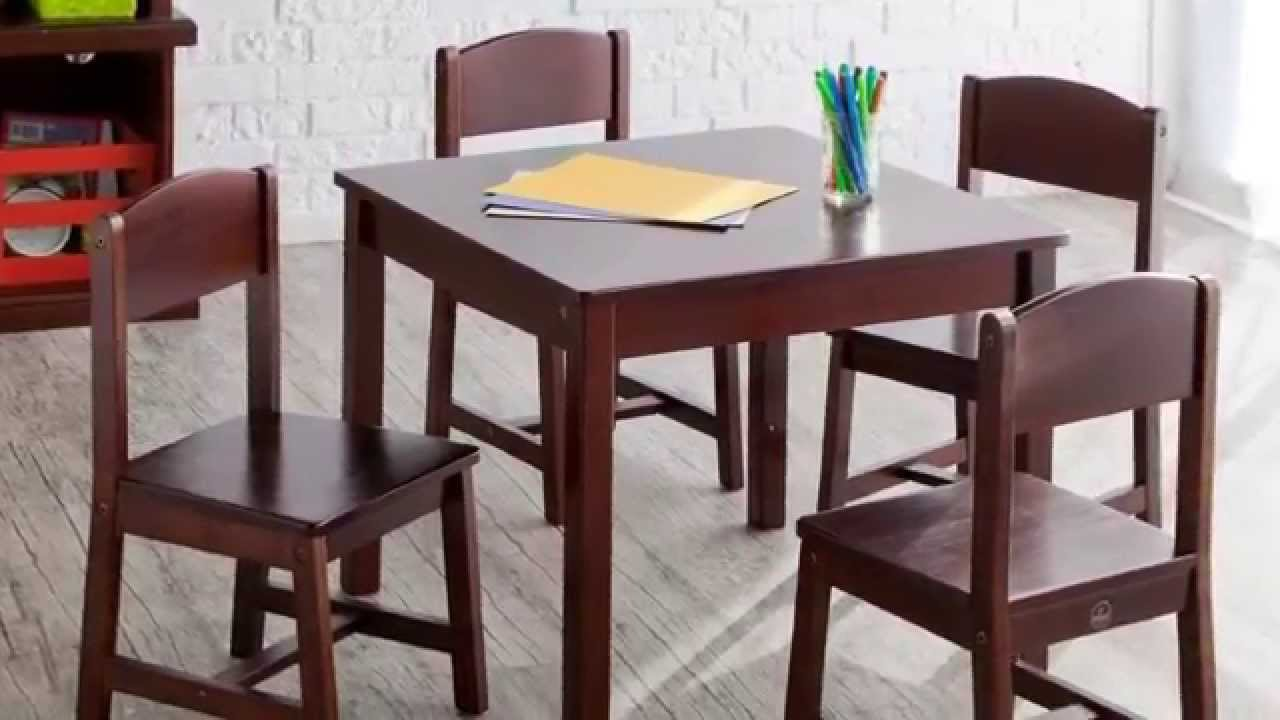 Review - KidKraft Farmhouse Table and Chair Set - YouTube
