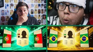 NAJGRUBSZE PACK & PLAY w HISTORII FIFA! 4x EKRANY! vs N3JXIOM | FIFA 19