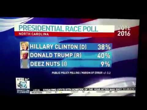 Deez Nuts for President in the 2016 US election