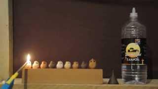 הדלקת חנוכיית שמן lightning oil hanukia
