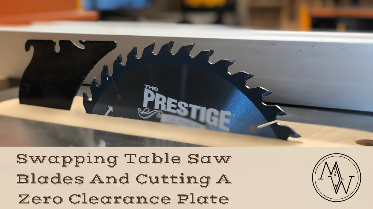 Changing the blade on my table saw then cutting a fresh zero changing the blade on my table saw then cutting a fresh zero clearance plate timelapes keyboard keysfo Images