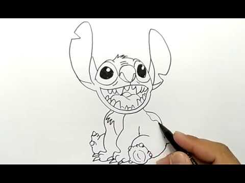 Cara Menggambar Stitch Dari Film Lilo And Stitch How To Draw