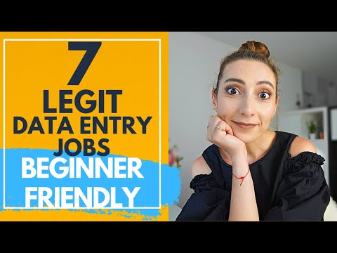 7 Legit Data entry jobs from home to make money online in 2020 (BEGINNER FRIENDLY)