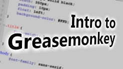 Introduction to Greasemonkey