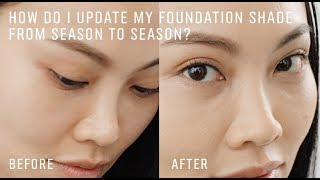 ASK A PRO ARTIST: How To Find Your Seasonal Foundation Shade from Summer to Winter by Bobbi Brown