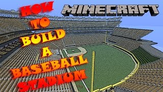 """HOW TO BUILD A BASEBALL STADIUM MINECRAFT! (BEST TUTORIAL ON YOUTUBE) Episode 1! """"THE OUTLINE"""""""