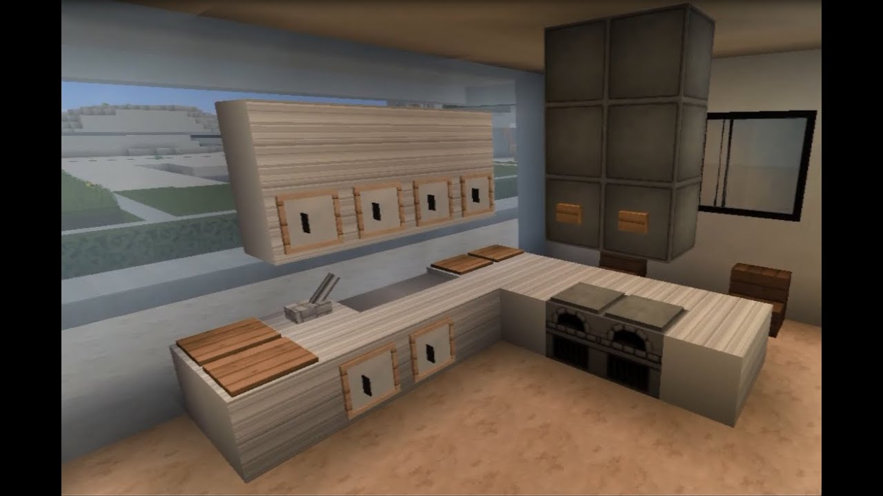 Minecraft tuto deco interieur meubles 1 2 youtube for Decoration maison minecraft interieur