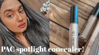 PAC Spotlight concealer | Review and demo| dry skin