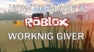 ROBLOX: Wie man einen Geber macht (2015)