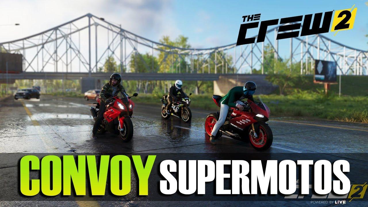 The Crew 2 - Convoy de Supermotos de Las Vegas a Chicago | Ducati, BMW, Suzuki