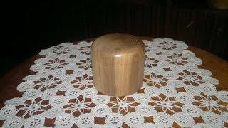 Woodturning Small Box Of Walnut малка кутийка от орех