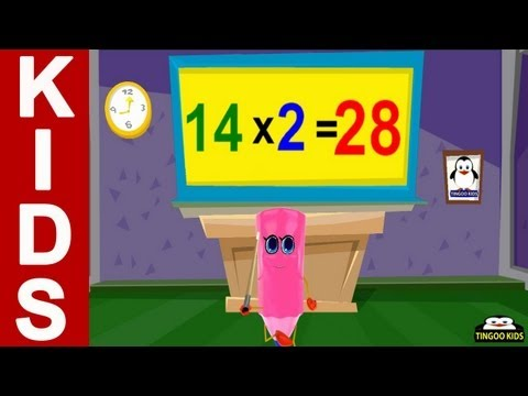 14 Times Table Song  kids songs & nursery rhymes in English with lyrics