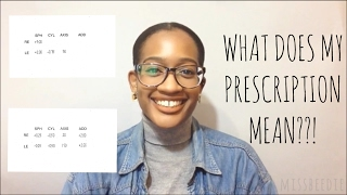 HERE'S WHAT YOUR GLASSES PRESCRIPTION MEANS | missbeedie