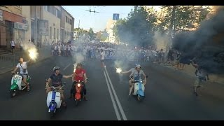 Марш Ультрас Дніпра та  Динамо (09.08.2015)