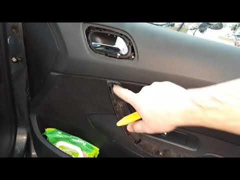 Как снять обшивку передней двери на пежо 308 видео
