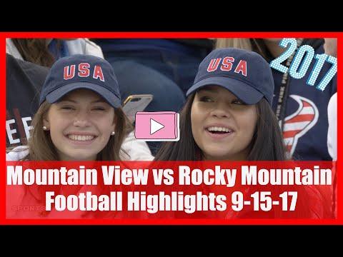 Mountain View vs Rocky Mountain Football Highlights 9-15-17