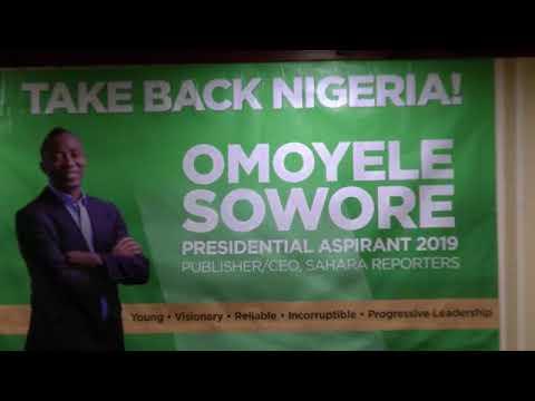 Mr Omoyele Sowore Town hall meeting New York, USA.