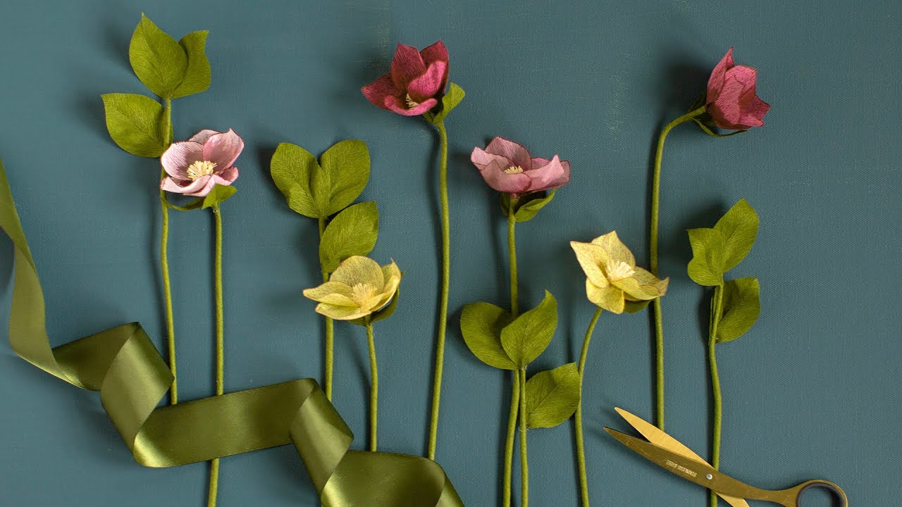 November Member Make: Crepe Paper Hellebore