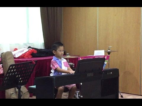 Piano Lessons for Kids  6 year old boy play solo  About Music School Children Concert 2015