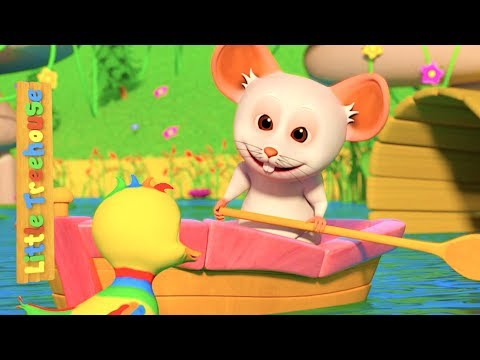 Row Row Row Your Boat | Kindergarten Nursery Rhymes for Children | Kids Cartoons by Little Treehouse