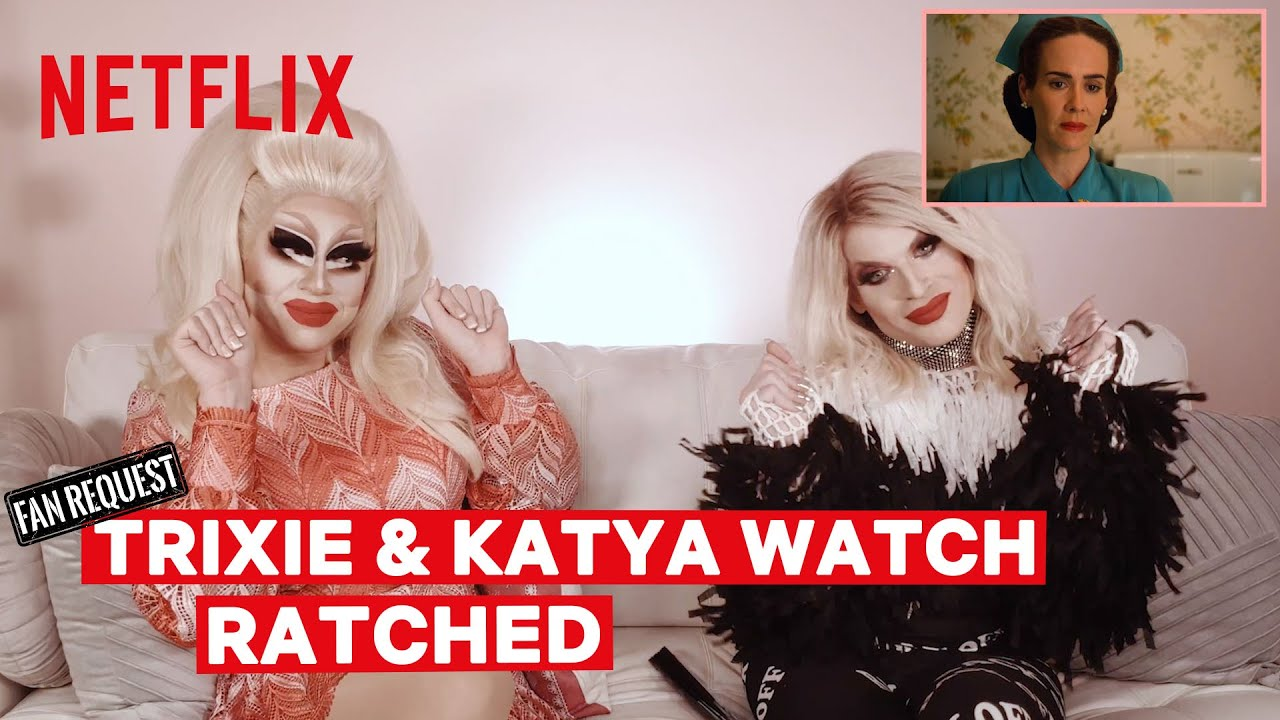 Download Drag Queens Trixie Mattel & Katya React to Ratched   I Like to Watch   Netflix